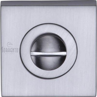 Sorrento Square Bathroom Turn & Release Satin Chrome