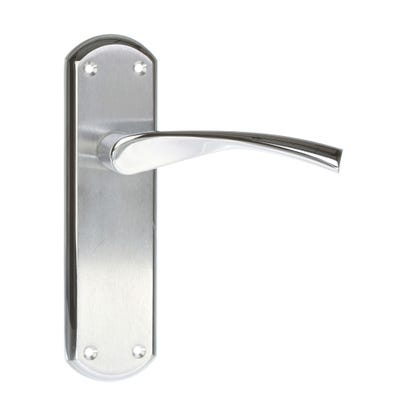 Sorrento Atlanta Door Handle in Satin & Polished Chrome