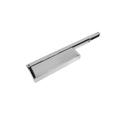 Rutland Cam Action Door Closer & Semi-Rad Cover Polished Chrome