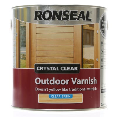 Ronseal Crystal Clear Outdoor Varnish Satin 2.5L