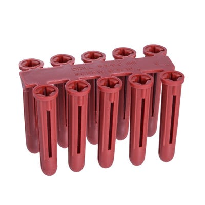 Speed Pro 6mm Red Plastic Wallplugs Pack of 200