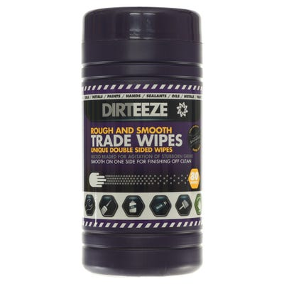 Dirteeze Rough & Smooth Trade Wipes Tub of 80