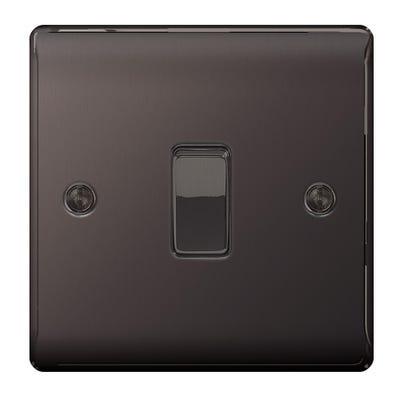BG Nexus 10A 1 Gang 2 Way Light Switch Black Nickel NBN12-01