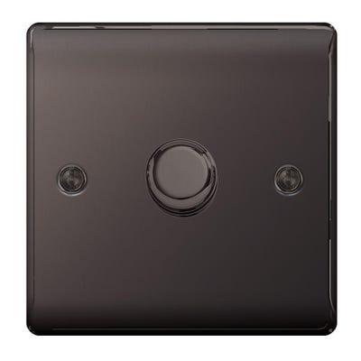BG Nexus 400W 1 Gang 2 Way Dimmer Light Switch Push Black Nickel NBN81-01