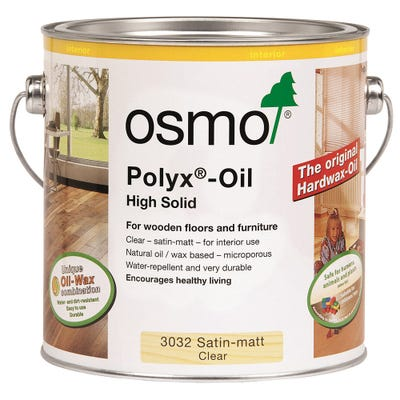 Osmo Polyx Hardwax Oil Original Clear Satin Matt 10L