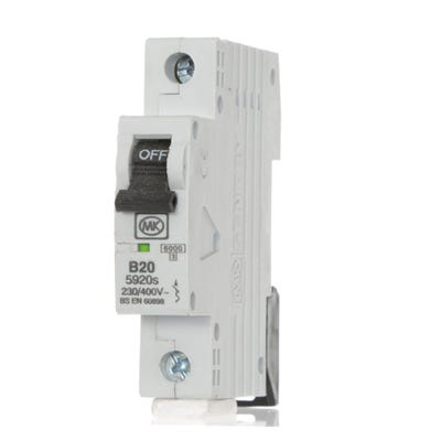 MK Sentry 20A MCB Single Pole (Type B) 5920S