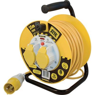 Masterplug 25m 16A 110V 2 Gang Heavy Duty Cable Drum LVCT2516/2-MP