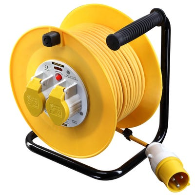 Masterplug 50m 16A 110V 2 Gang Cable Drum LVCT5016/2-MP