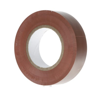PVC Electrical Insulation Tape 20m x 19mm Brown 1920BR