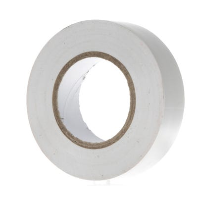 PVC Electrical Insulation Tape 20m x 19mm White 1920W