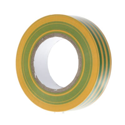 PVC Electrical Insulation Tape 20m x 19mm Yellow/Green 1920YG