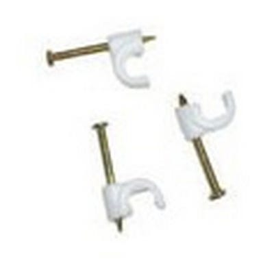Round Cable Clips 7mm-10mm Box of 100 White QRC10