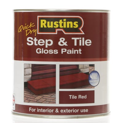 Rustins Quick Dry Step & Tile Gloss Paint Tile Red