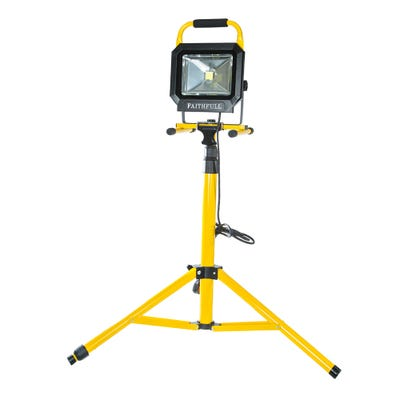 Faithfull 30W COB LED Sitelight & Tripod 240V