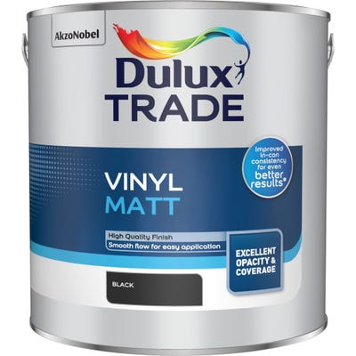 Dulux Trade Vinyl Matt Black 2.5L