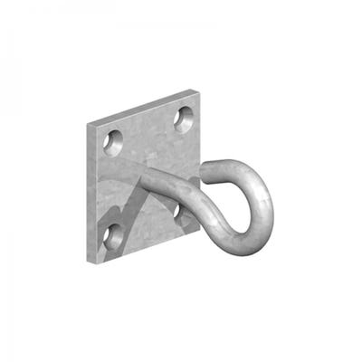 50mm x 50mm Hook on Plate Galvanised Pack of 2