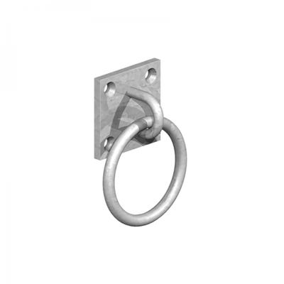 50mm x 50mm Ring on Plate Galvanised
