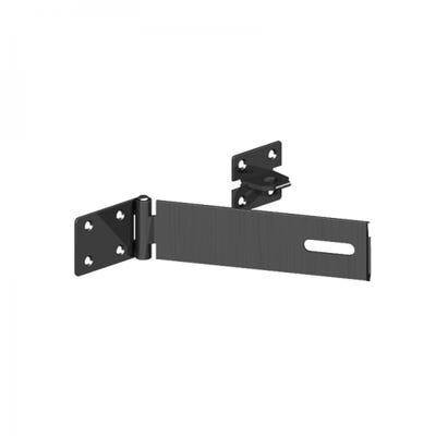 Safety Pattern Hasp and Staple 150mm Black