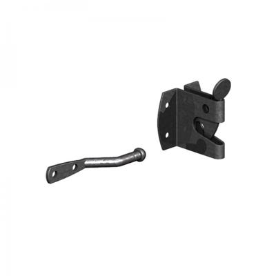 Large Auto Gate Catch Black