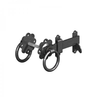 Ring Gate Latch 150mm Black