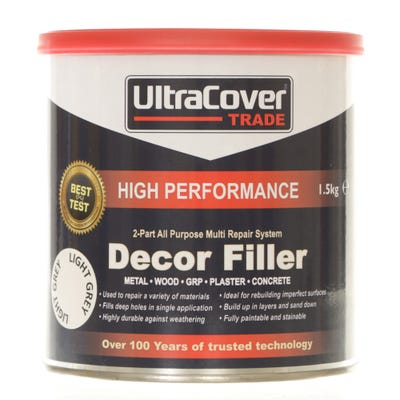 UltraCover Trade 2 Part All Purpose Decor Filler Light Grey