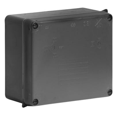Wiska Weatherproof IP65 Adaptable Box Black 165 x 145 x 84mm (WIB3)