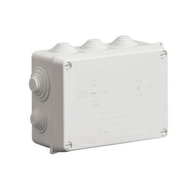 Wiska Weatherproof IP65 Junction Box with Grey Glands 160 x 120 x 71mm (WIB2/4)