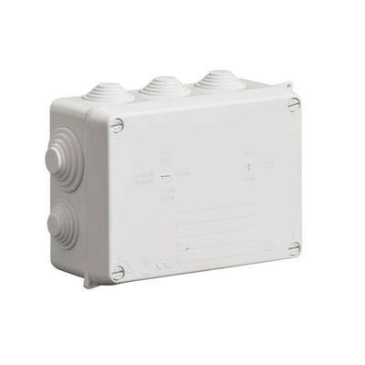 Wiska Weatherproof IP65 Junction Box with Black Glands 160 x 120 x 71mm (WIB2/4)