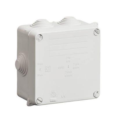 Wiska Adaptable Box IP54 with Grey Glands 110 x 110 x 60mm (WIB1/E)