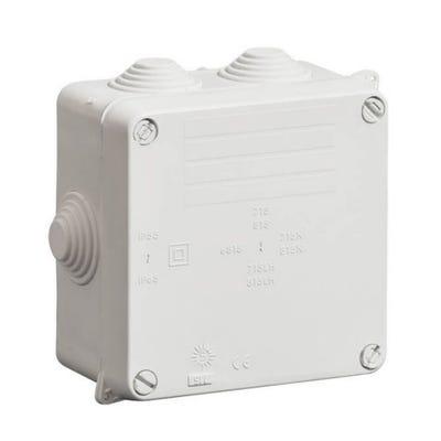 Wiska Adaptable Box IP54 with Black Glands 110 x 110 x 60mm (WIB1/E)