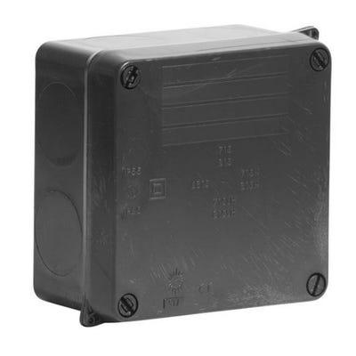 Wiska Weatherproof IP65 Junction Box Black 110 x 110 x 60mm (WIB1/E)
