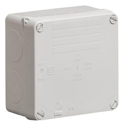 Wiska Weatherproof IP65 Junction Box Grey 110 x 110 x 60mm (WIB1)