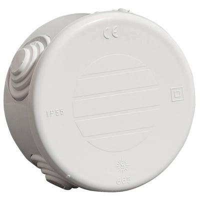 Wiska WIB6 Round Adaptable Weatherproof Box with Glands IP55 Grey EC400C2