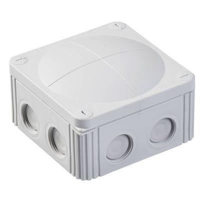 Wiska Junction Box IP66/IP67 Grey with 5 Pole Terminal Block 110 x 110 x 66mm (COMBI 607/5)
