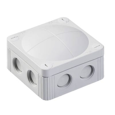 Wiska Junction Box IP66/IP67 Grey with 5 Pole Terminal Block & Earthing Clamps 85 x 85 x 51mm
