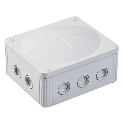 Wiska Junction Box IP66/IP67 Grey with 5 Pole Terminal Block 160 x 140 x 81mm (COMBI 1210/5)