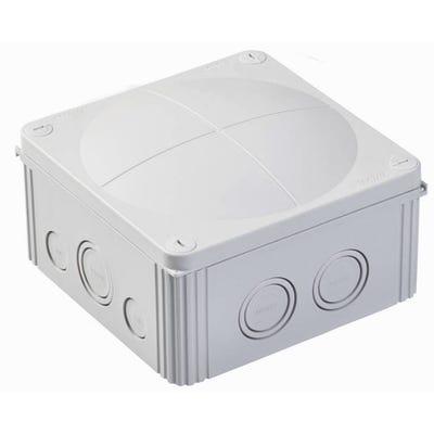 Wiska Junction Box IP66/IP67 Grey with 5 Pole Terminal Block 140 x 140 x 82mm (COMBI 1010/5/S)