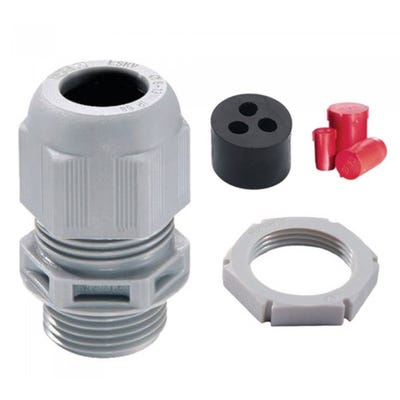 Wiska Sprint 2 x 16mm Tails 1 x 16mm Earth IP68 Plastic Round Cable Gland LSF 32mm