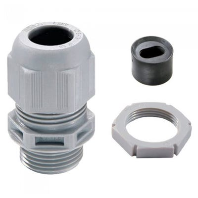 Wiska Sprint 2 x 2.5mm Plastic Flat Cable Gland LSF 25mm