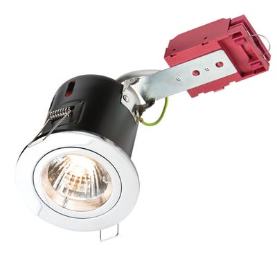 Knightsbridge Fixed GU10 IC Fire Rated Downlight Chrome VFRDGICC