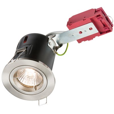 Knightsbridge Fixed GU10 IC Fire Rated Downlight Brushed Chrome VFRDGICCBR