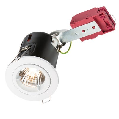 Knightsbridge Fixed GU10 IC Fire Rated Downlight White VFRDGICW