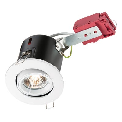 Knightsbridge Tilt GU10 IC Fire Rated Downlight White VFRSGICW