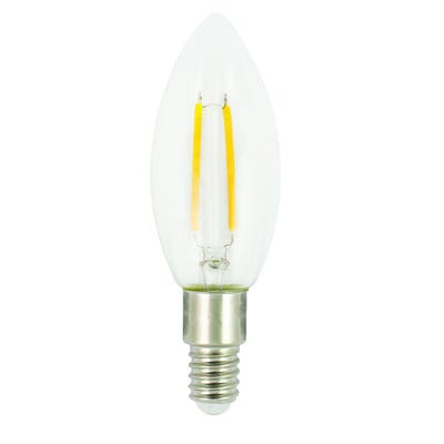 Luceco E14 4W Non-Dimmable C30 Candle Filament Lamp LC14W4F47-LE