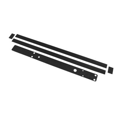 Rutland Intumescent Pads for Concealed Cam Action Door Closers Black