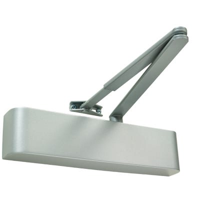Rutland Door Closer EN2-4 with Delayed Action & Silver Curved Cover