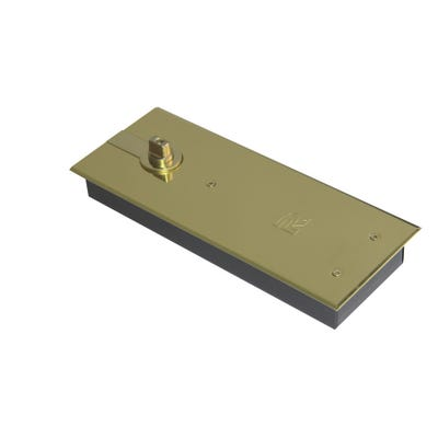 Rutland TS7004 Floor Spring Double Action Polished Brass Plate