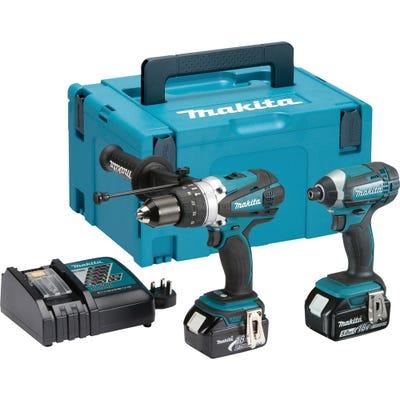 Makita DLX2145TJ 18V Combi Drill & Impact Driver + 2 x 5Ah Batteries
