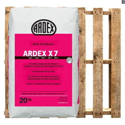 Ardex X7 Grey Wall and Floor Tile Adhesive 20Kg Pallet of 50