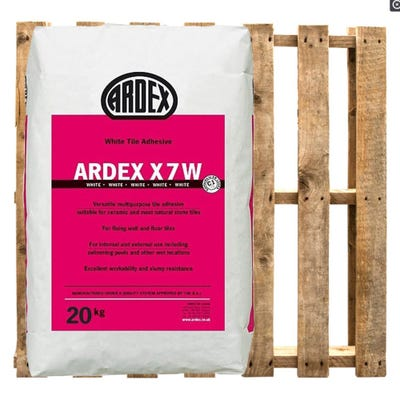 Ardex X7 White Wall and Floor Tile Adhesive 20Kg Pallet of 50